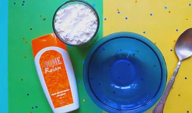 Как можно сделать слайм из муки, с мылом, клеем и без него